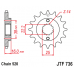 Γρανάζι εμπρόσθιο JT JTF736-15