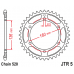 Γρανάζι οπίσθιο JT JTR5 ατσάλινο C-49