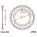Γρανάζι οπίσθιο JT  JTR6-41 ατσάλινο C-49